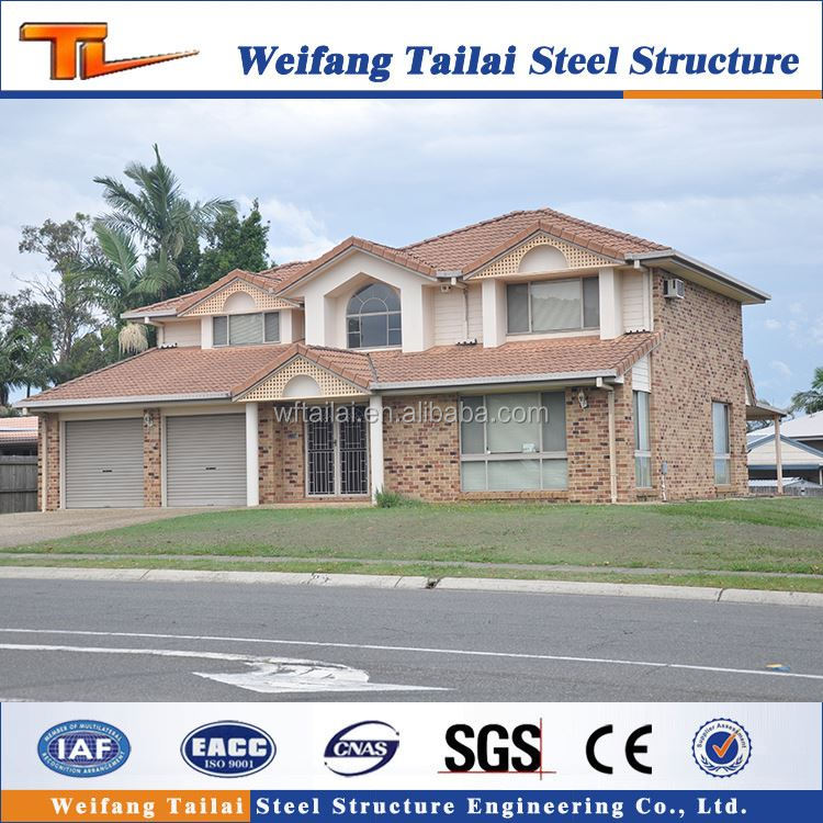 cheap price american style prefabricated steel structure villa