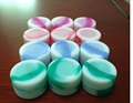 Newest mini cylinder cheapest silicone non-stick container jars dab wax vaporizer oil container