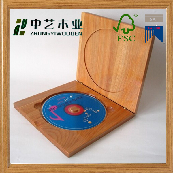 Best gift vintage style solid pine unfinished wedding DVD box wooden case wood box wooden CD case