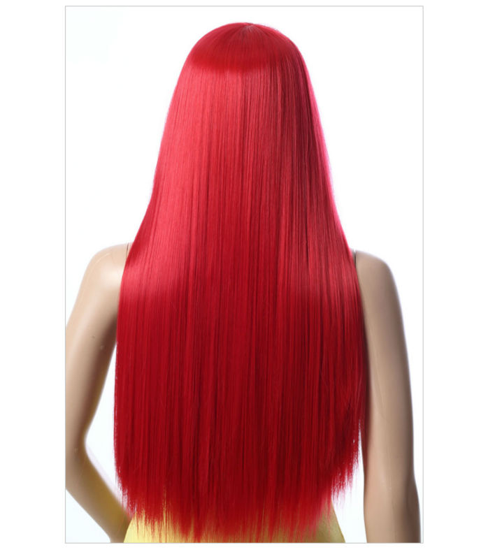 crazy color very long braid no tangle silk feeling party wigs