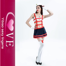 Carnival Sailor Girl Outfit Sexy Red Dangerous Waters Sailor Lingerie Costume