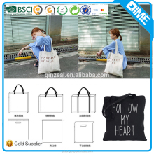 Wholesale Heavy Duty Promotional Eco Friendly Cotton Canvas Tote Bag With Printed Logo For Shopping