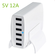 Portable Multi Travel Power Adapter Wall Charging Station 12v output 6 Port USB Charging Hub Multiple USB Desktop Charger