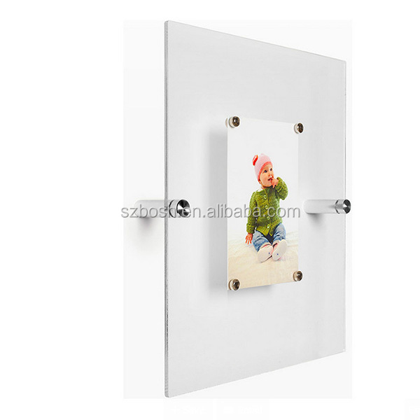 12x10 Transparent Floating Acrylic Wall Frame For sale
