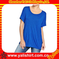 wholesale high quality shorts sleeve custom made design cheap v neck softwear clothing women's t-shirts
