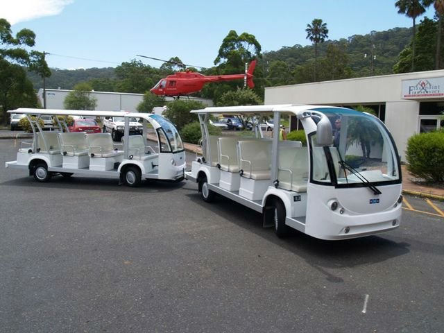 29 seater electric bus train,Electric bus train(EG6158K with trailer)