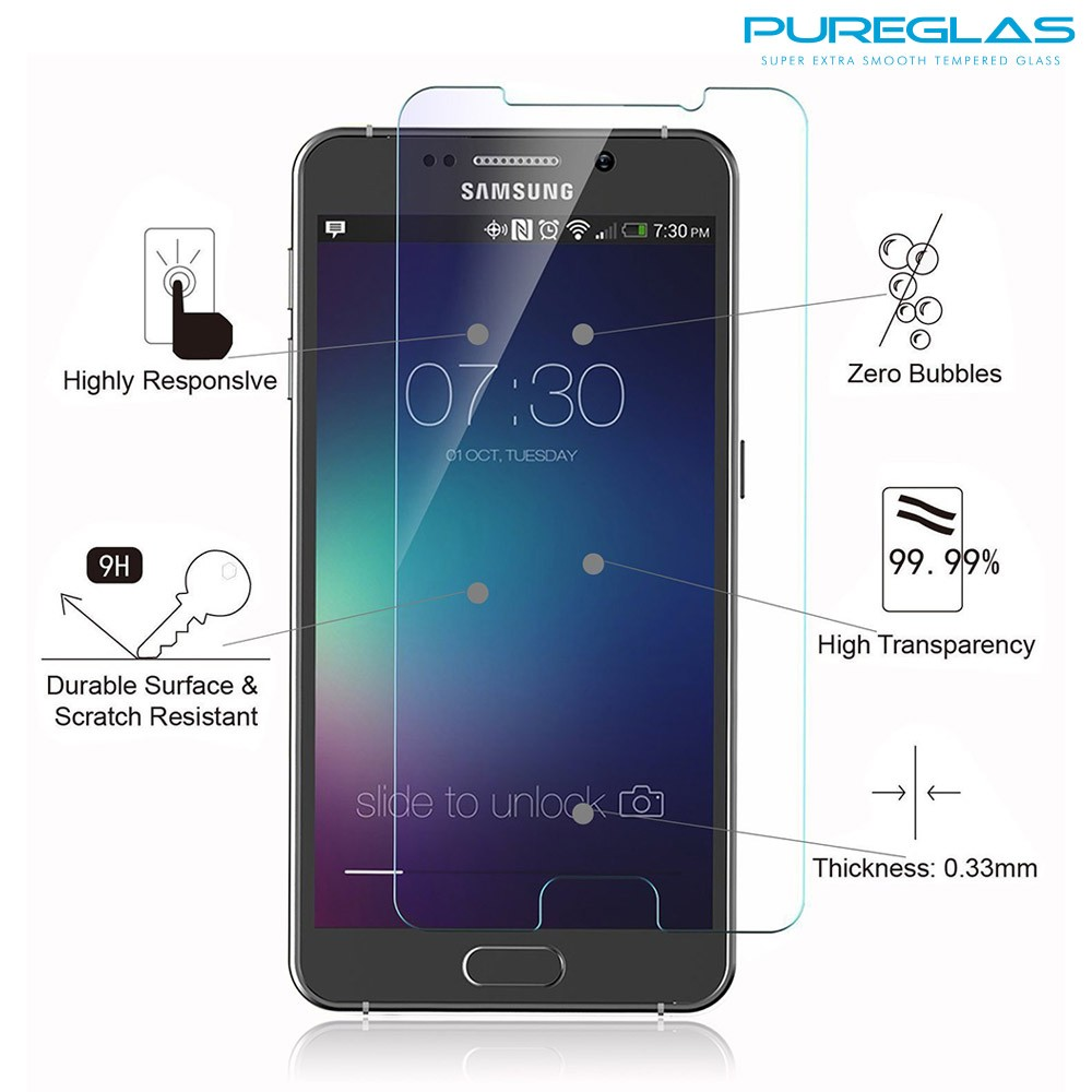 2016 Hot Sale 0.33mm 9H Clear Tempered Glass Screen Protector For Samsung Galaxy Note 6/Note5/note 4/note 3