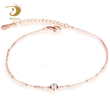 Marlary New Arrival Rose Gold Plated Ankle Foot Bracelet Body Jewelry , Girls Fashion Anklets, Stainless Steel Anklet