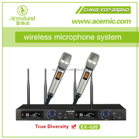 ACEMIC EX520 Professional two channel high quality Stage true diversity powerful uhf wireless microphone