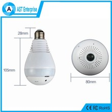 new arrival 1.3MP Fisheye 360 Degree Panoramic Wireless Hidden Camera Light Bulb v380 ip camera
