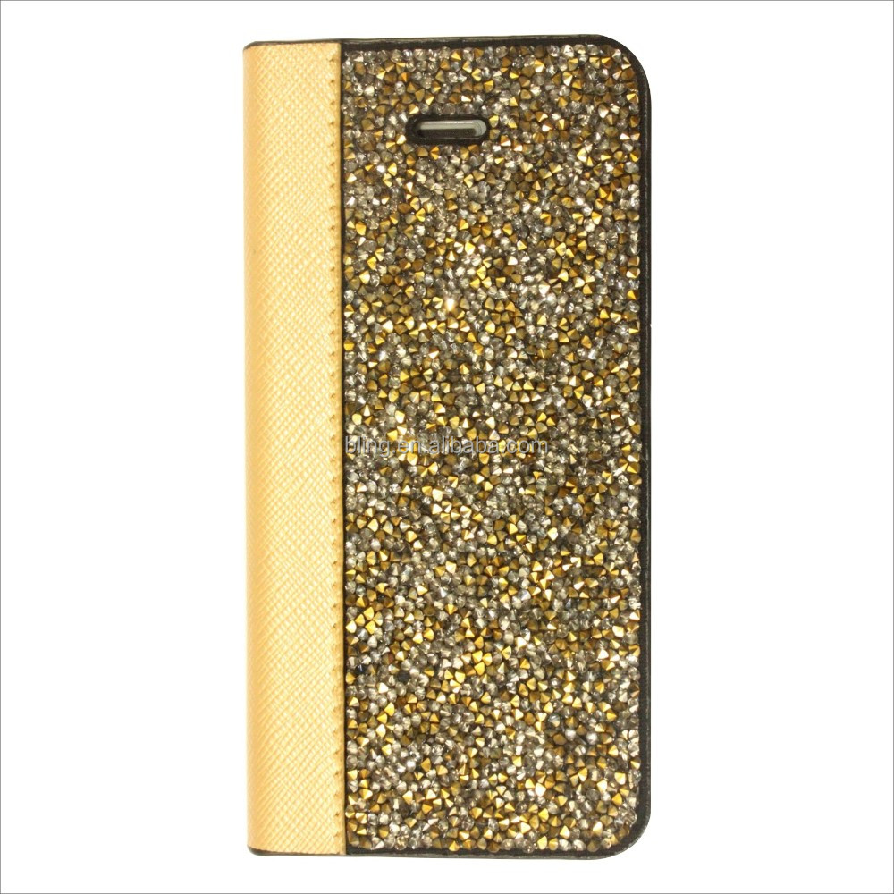 Alibaba China supplier crystal diamond Pu Leather Wallet Case For samsung Galaxy S5 S6 J5 J7 Note 3 Note 5 Note 7