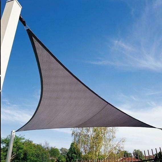 triangular sun shade sail with ring
