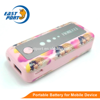 2015 factory supply fast charging mobile portable cartoon power bank