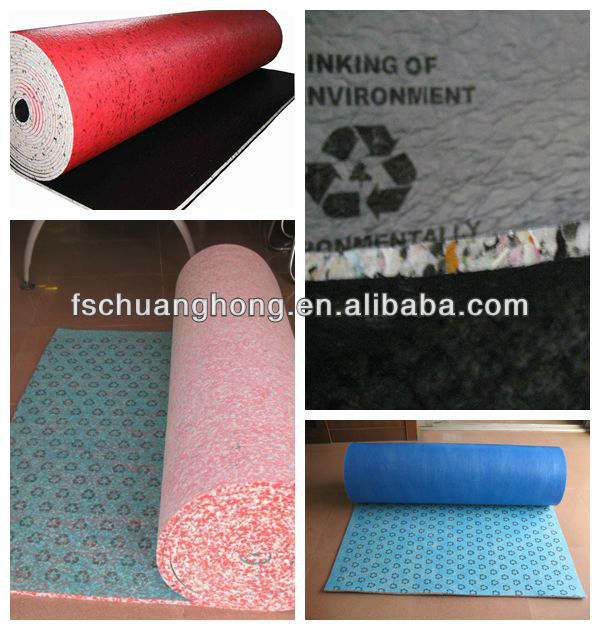 the cheapest 12mm anti-slip carpet underlayment padding