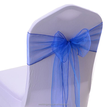 Cheap chair sashes organza white snow taffeta chair sash