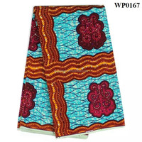 China wholesale print fabric new designs african wax prints for clothing nigerian wax fabric WP0167