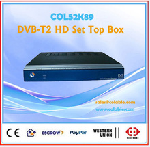 dvb-t2 iptv set top box PVR and multimedia. mpeg4 dvb-t decoder, DVB-T2 HD Set Top Box, 1080p full hd tv STB COL52K89