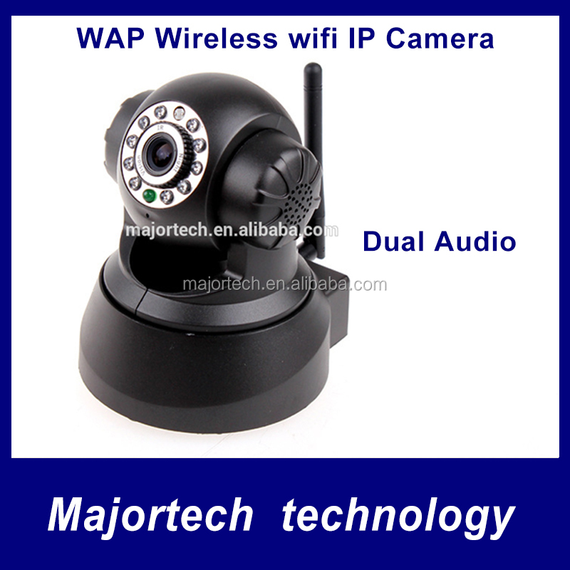 WPA Wireless WiFi IP Camera 640x480 with Internet PTZ Dual Audio