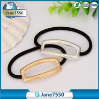 Metal alloy gold and silver color elastic hair tie for OL style headwear women hair accessory