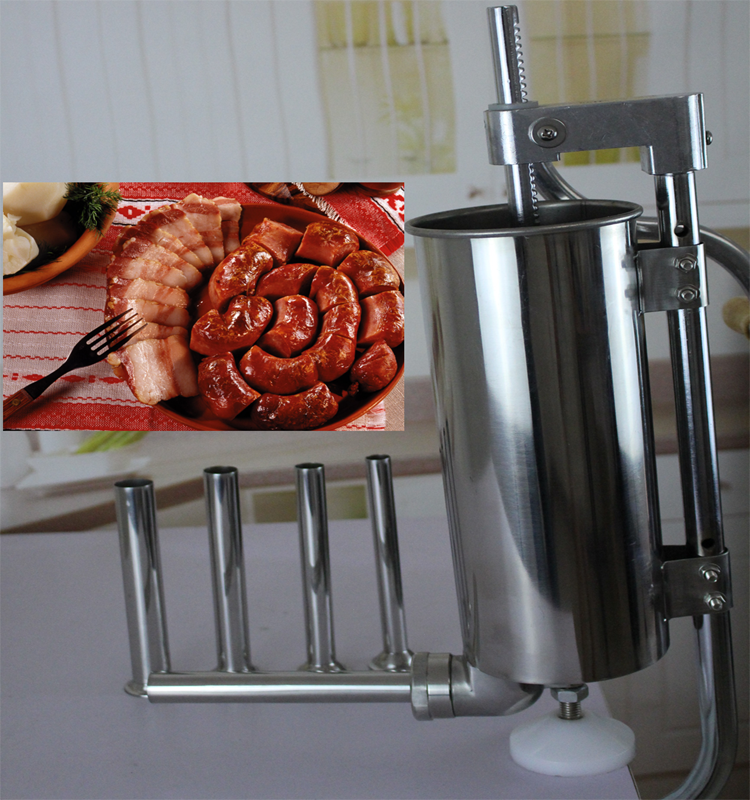 Economic hand crank sausage making machine/ sausage stuffer/ sausage filling machine with high reputation