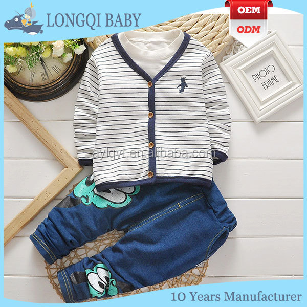 cotton T-shirt and jean trousers cute baby clothes