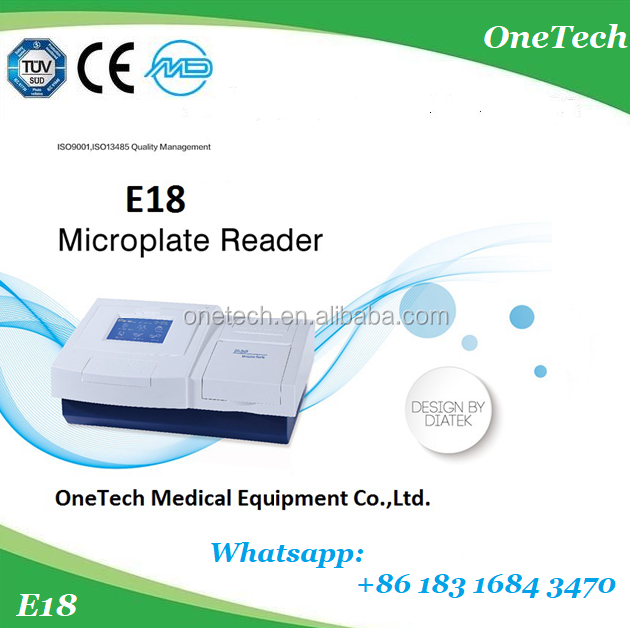 "E18 5.7"" high resolution USB PC connected Elisa microplate reader price 96 well plate with DIATEK Elisa reader software"