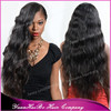 Hot Sale 7A Quality! #1b loose wave virgin brazilian hair extra long front lace wig