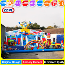 ZZPL Outdoor Giant Airplane Inflatable Playground for kids, Commercial Inflatable Fun City on sale