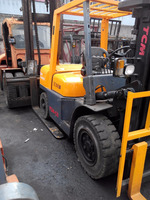 high quality TCM FD50 5T manual diesel forklift with triple mast