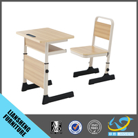 High quality Europe style standard classroom furniture comfortable single school desk and chair set school furniture
