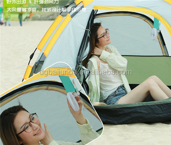 handheld fan with selfie stick usb charge battery