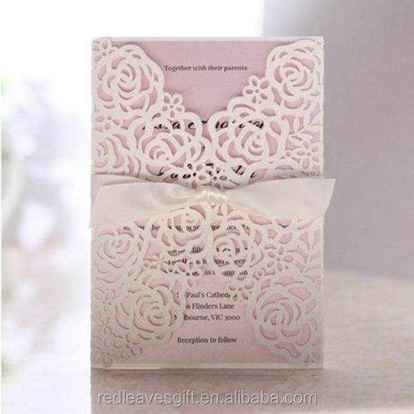 China factory supply newest design wedding invite card with RSVP card
