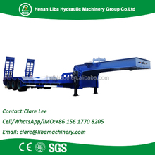 Customized Large Capacity 60 Ton Low Bed Semi-Trailer With Tri-Axle And Extendable Side