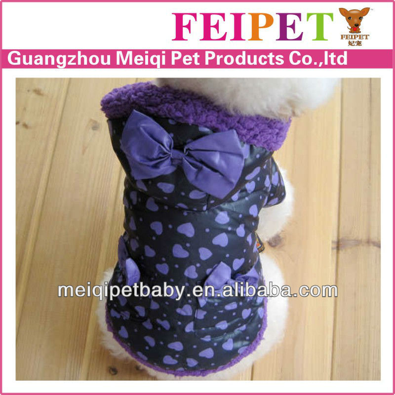 petbaby purple dogs waer, lastest winter dog clothes