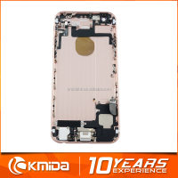 Gold color back cover rear housing for iphone 6 with logo,customize available