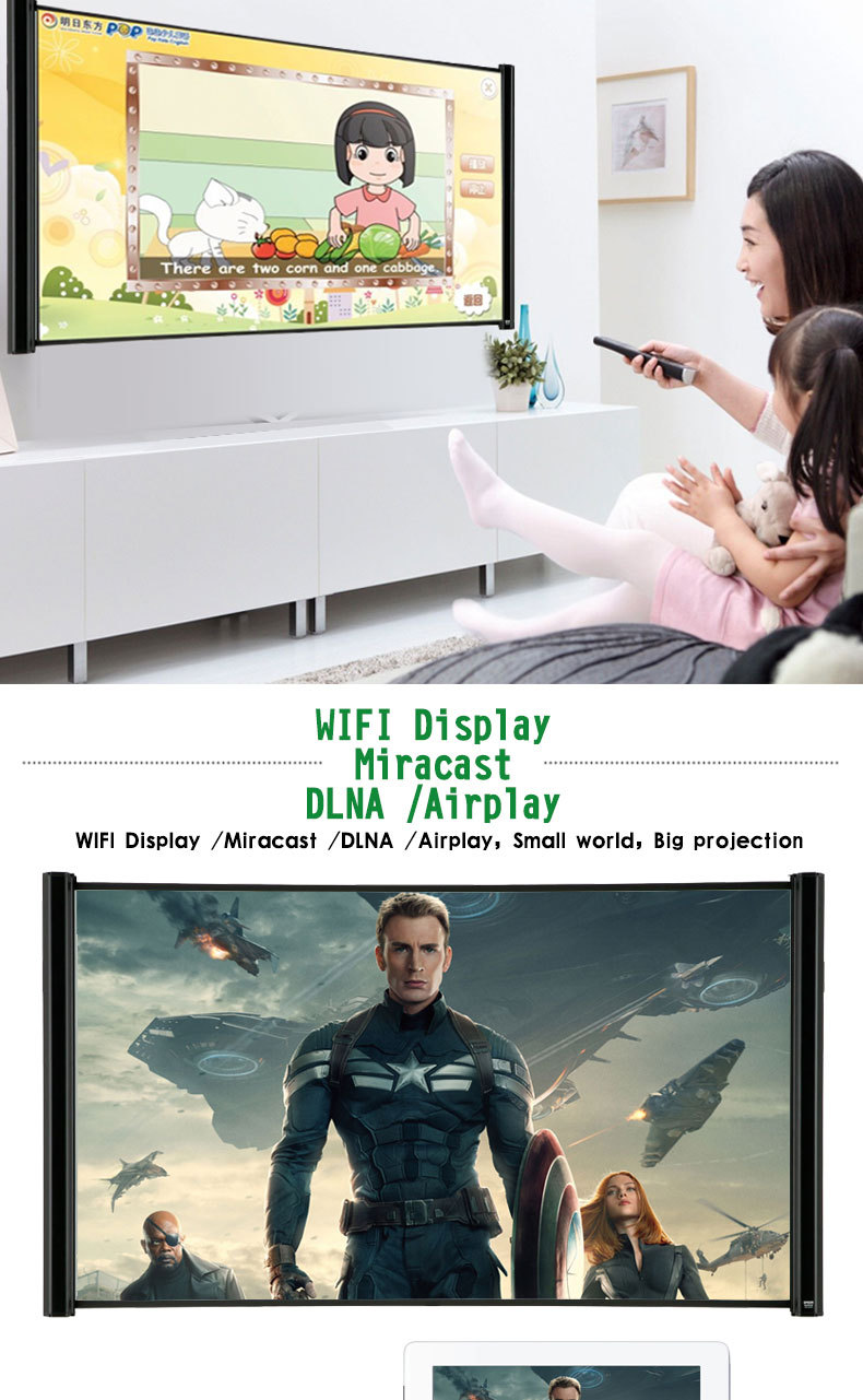 4k video projector blueray player projector dmd chip RK3288 Dual Mode Wifi mini Bluetooth Projector