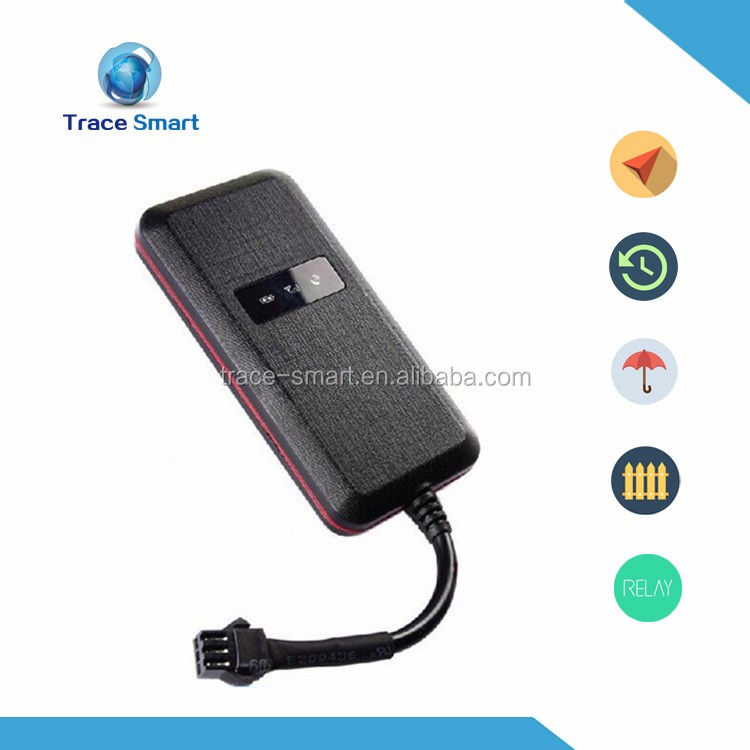 worlds smallest gps tracker plastic black real time SMS/GPRS Motorcycle GPS tracker with cut off engine remotely