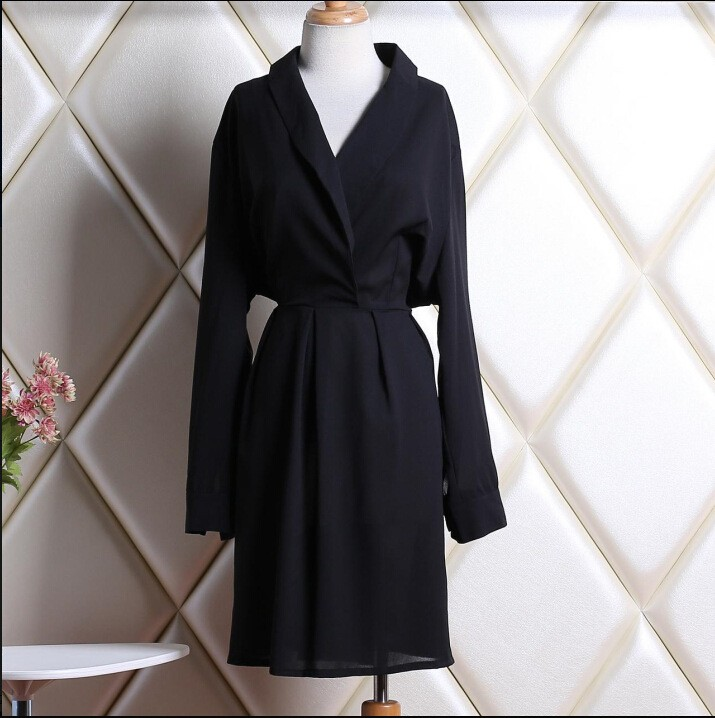 Fashion Black Women Long Sleeve Sleeping Dresses For Muslim Women