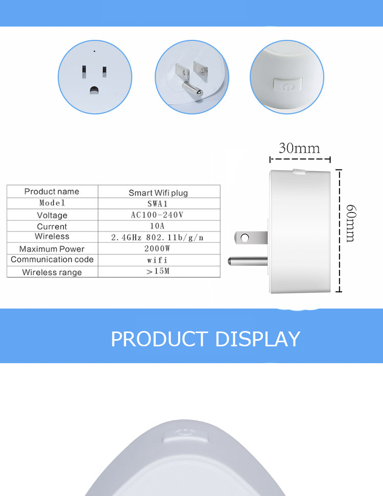 Simple and easy to use smart time socket plug for smart home