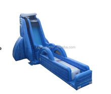 Commercial water slide, slide inflatable, Full Throttle Zero Shock Air Bag giant inflatable slide for sale