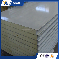Fireproof and insulated metal faced fiber glass wool sandwich panel for wall board
