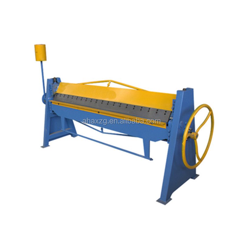 instock manual steel folding machine/steel sheet metal bender/duct folding <strong>equipment</strong>