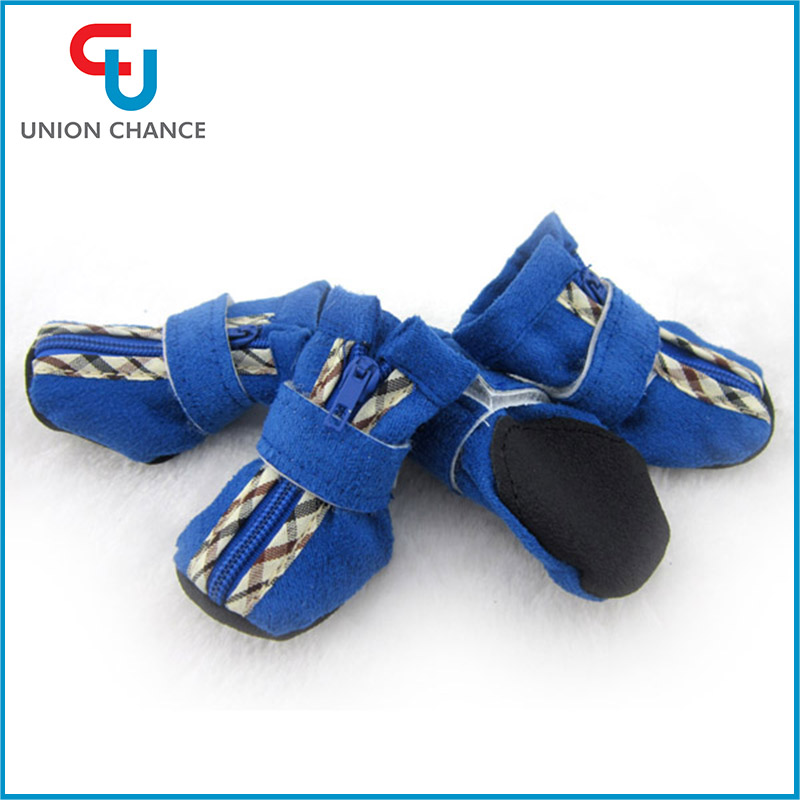4pcs/pack Fashion Dog's Shoes Pet Shoes Pet Boots Anti Slip Skid Waterproof Dog Shoes