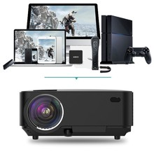 T20 1000:1 1500 Lumens Mini LCD Projector, Multimedia Home cinema Video Projector
