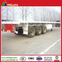 3 axle 40ft flatbed platform mutil-used container truck for sale /truck trailer manufacturers in south africa