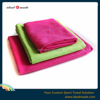 solid plain colors suede microfiber yoga towel with 100% microfiber soft and quick dry