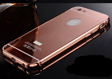 wholesale for iphone 5 custom back cover case with mirror,double cell phone case for iphone 5