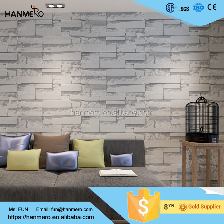 China supplier sound absorbing pvc wallpaper 3d wall price