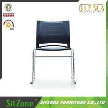 CH-118C stripe fabric conference chairs fabric padded stackable conference chair