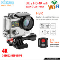 2016 H3R Ultra 4K HD WIFI Action Cameras Dual Screen Waterproof Sport Camera+ Remote Control DV DVR Helmet Camcorder